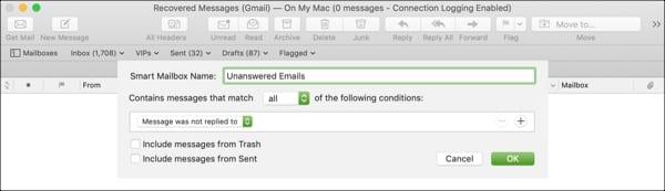 Create Smart Mailbox on Mac
