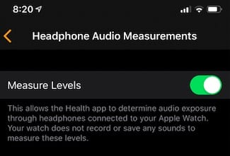 Noise Level Privacy Apple Watch