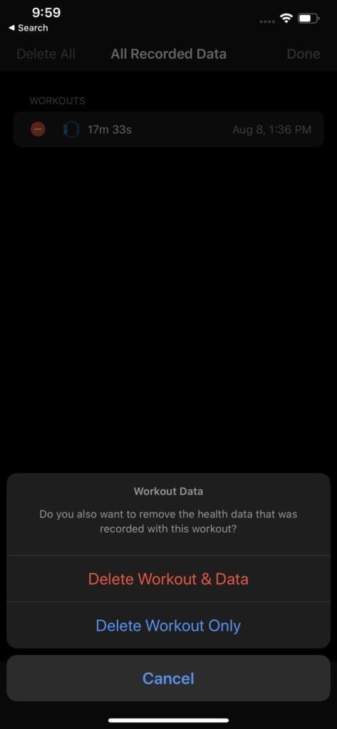 Remove Workouts Apple Watch 4