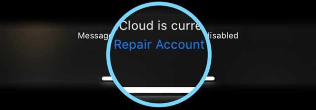 reapir message account Message App