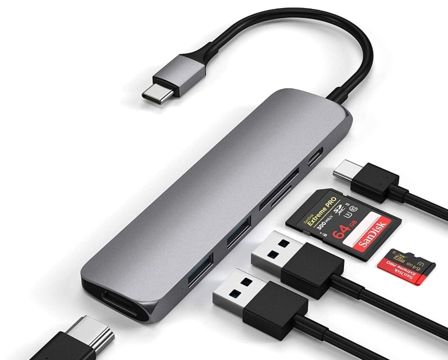 Satechi USB C Hub accessories for ipados