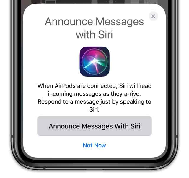 set up your AirPods with announce with Siri