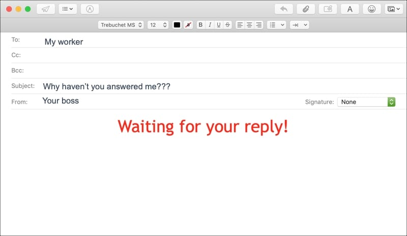 Waiting For Reply Email