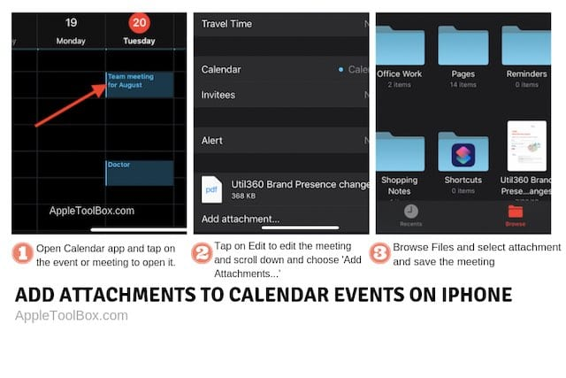 Add attachments to iPhone Calendar events in 3 easy steps