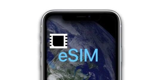 eSIM symbol on iPhone
