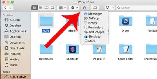 iCloud Folder Sharing - Mac
