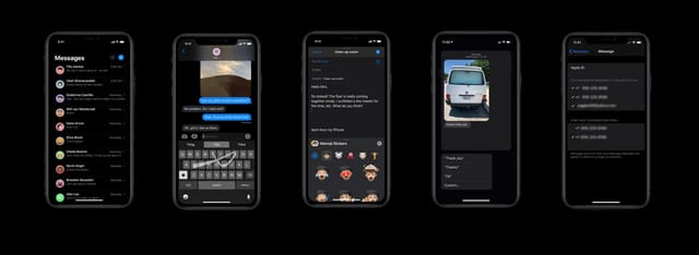 message app features iOS 13 and iPadOS