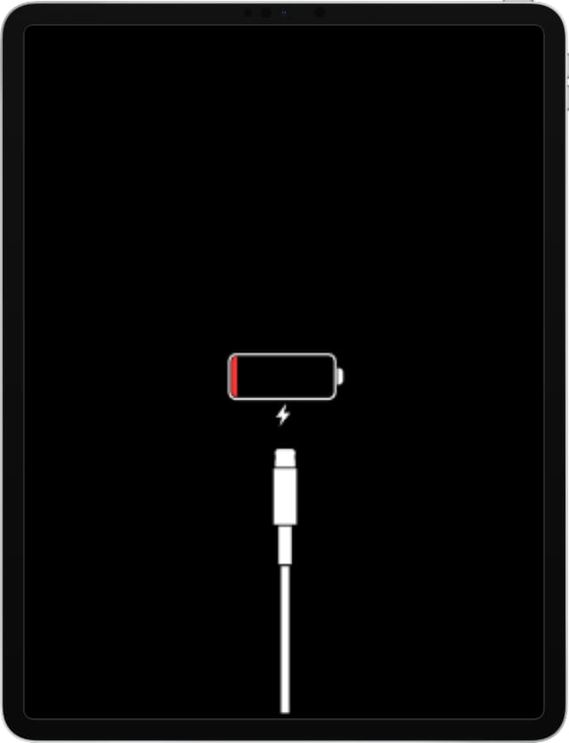 iPad Pro with low power screen, not charging