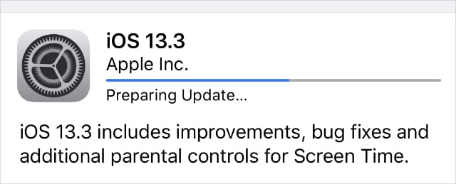 iPhone Software Updating progress bar