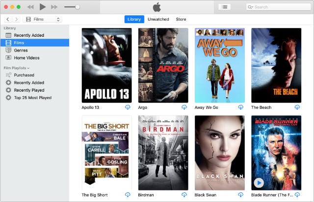 iTunes Movies purchased but not downloaded from the store