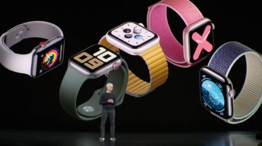 Apple Watch Series 5 range and Tim Cook