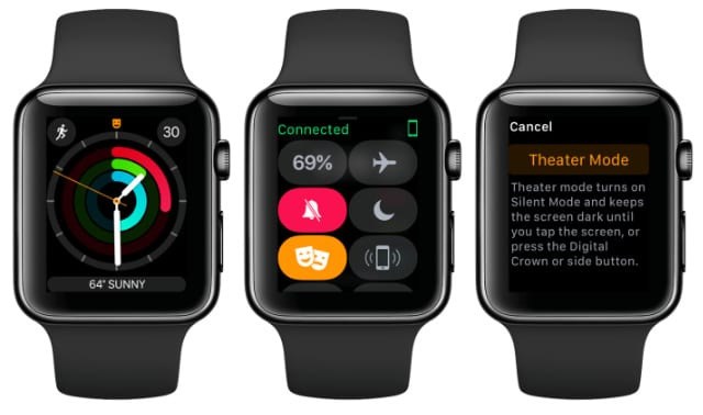 Apple Watch Theater Mode sequence