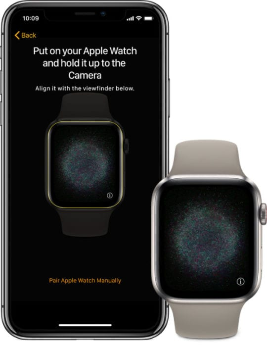 Apple Watch and iPhone ready to pair