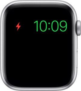 Apple Watch low battery screen