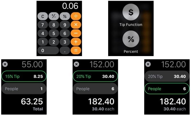 Apple Watch Calculator Functions