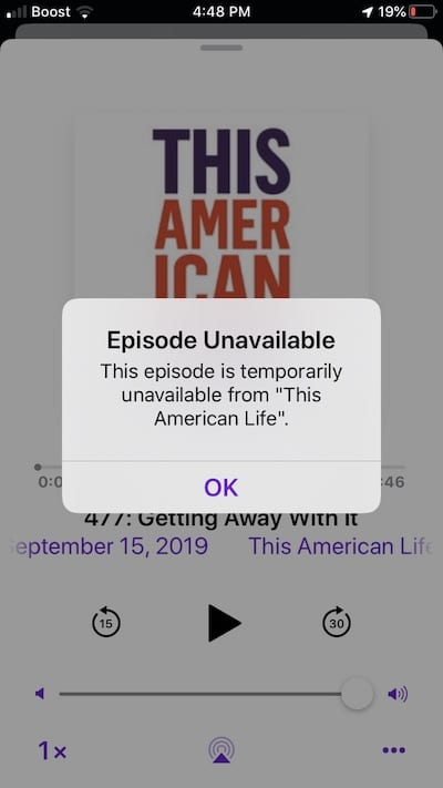 Podcasts not playing on iOS 13 fix