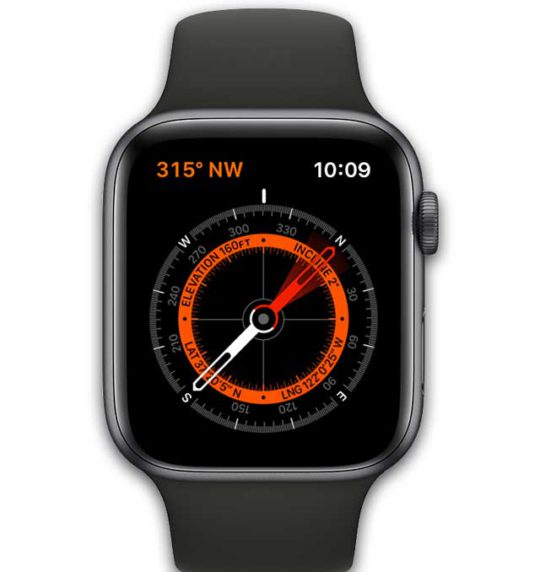compass app on apple watch
