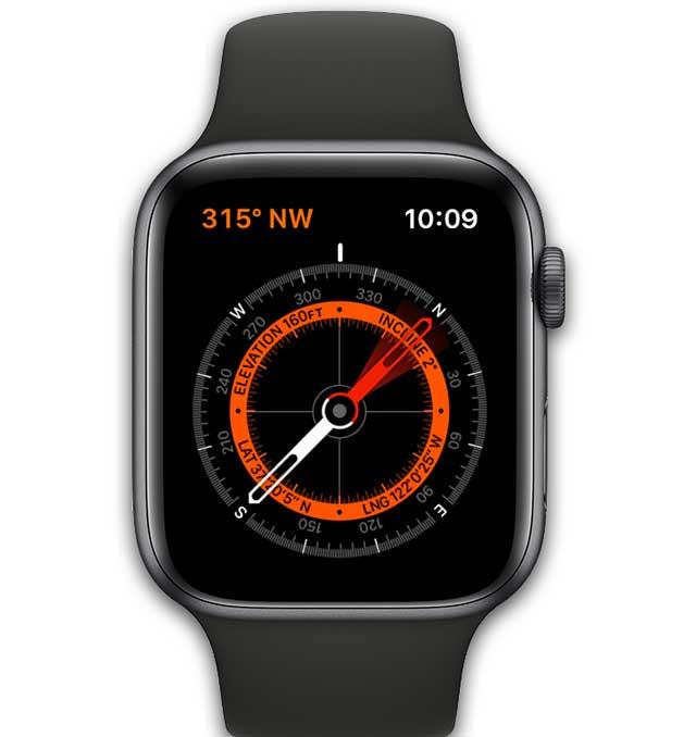 compass app on apple watch