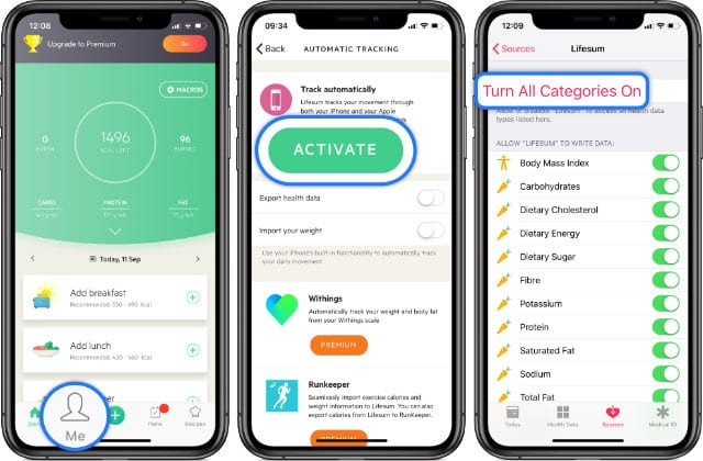 How to sync Apple Health data with Lifesum
