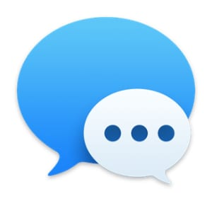 Messages app icon from Mac