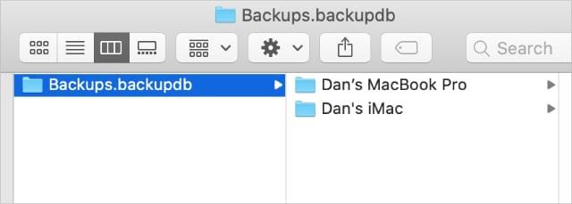 Multiple Mac backups in a Time Machine folder