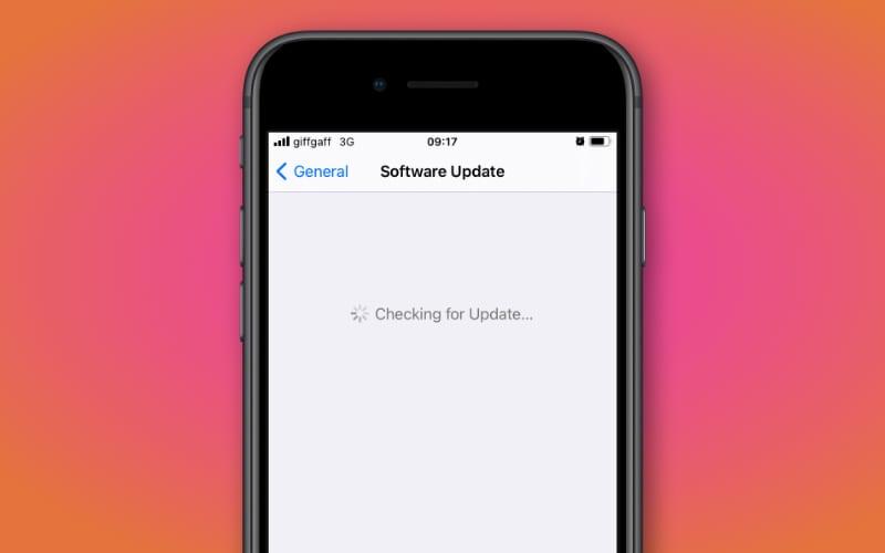 Preparing iPhone for iOS update