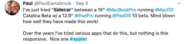 Using SideCar on iPadOS