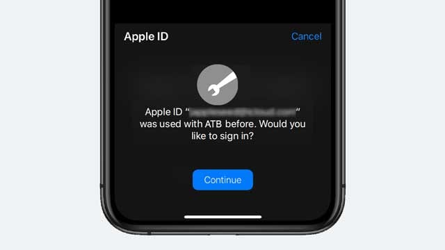Sign in with Apple like before iOS 13 and iPadOS