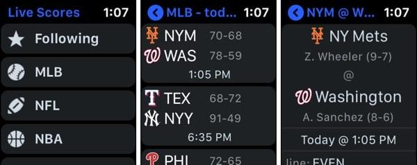 Sports Alerts on Apple Watch