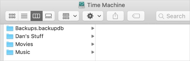Time Machine drive with other storage next to backups