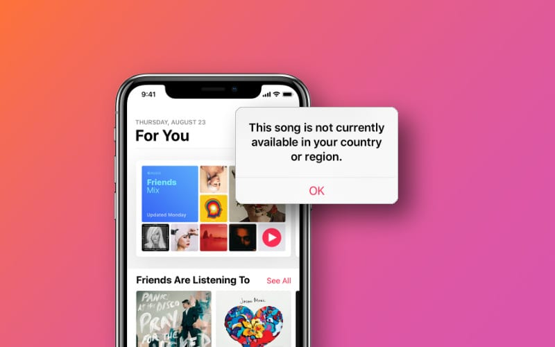 "What to do if a song is ""not currently available in your country"" on iTunes or Apple Music"