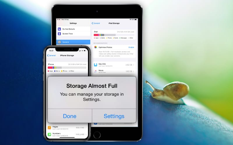 What to do when the storage is almost full and your iPhone or iPad is running slow
