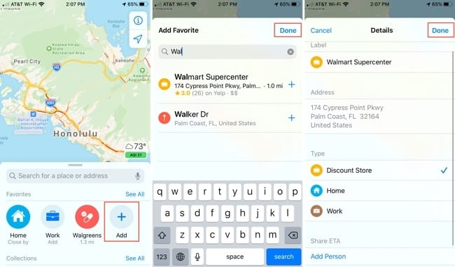 New features Apple Maps - Add Favorites