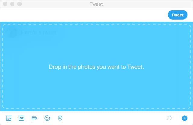 Drop a photo into tweet compositions with Twitter for Mac
