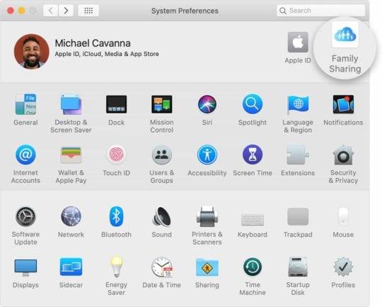 Set up Family Sharing on Mac