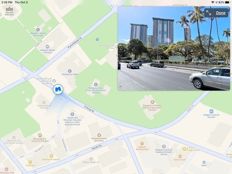 New features Apple Maps - Look Around