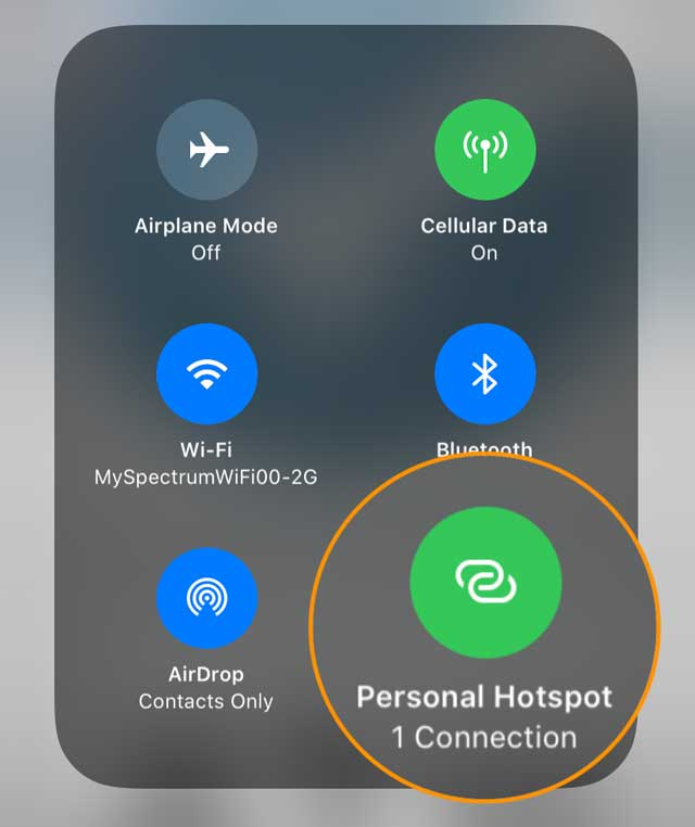 devices connected to hotspot on iPhone