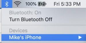 Personal Hotspot - Bluetooth