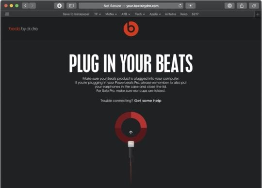 PowerBeats Pro Connection Problems Beats Updater 1
