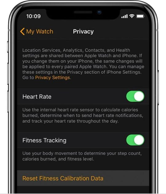 Reset Calibration Data Apple Watch Series 5