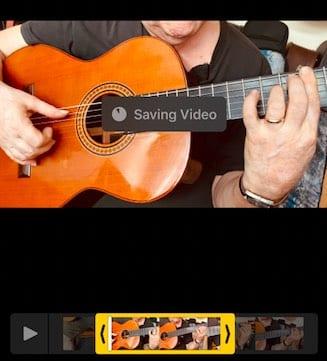 Save trim videos in iOS 13
