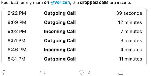Dropped calls after iOS 13 VERIZON