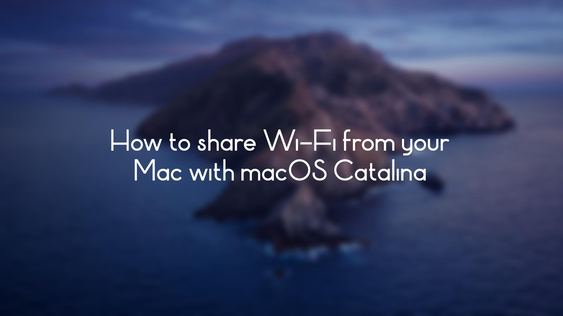 Share Wi-Fi From Your Mac Hero