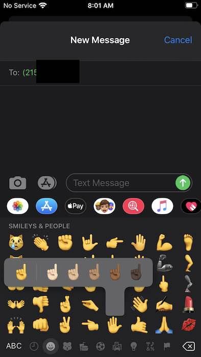 iOS 13.2 Change emoji skintone