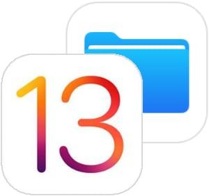 iOS 13 logo and Files app icon