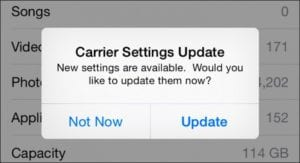 iPhone Dropped Calls - Carrier Settings