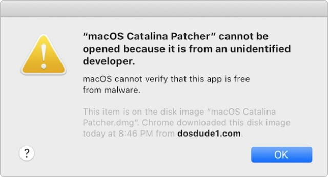 macOS Cannot Verify App is Free From Malware