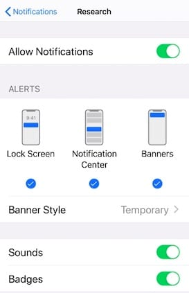 Allow Health and movement notifications on iPhone