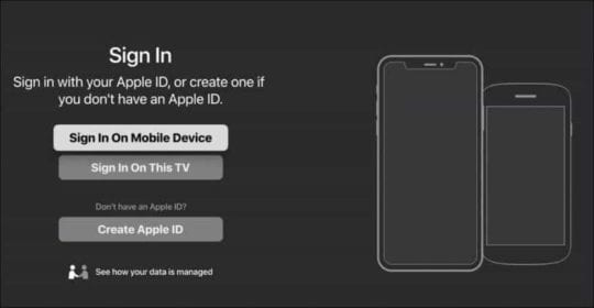 Apple TV App for Roku Sign In