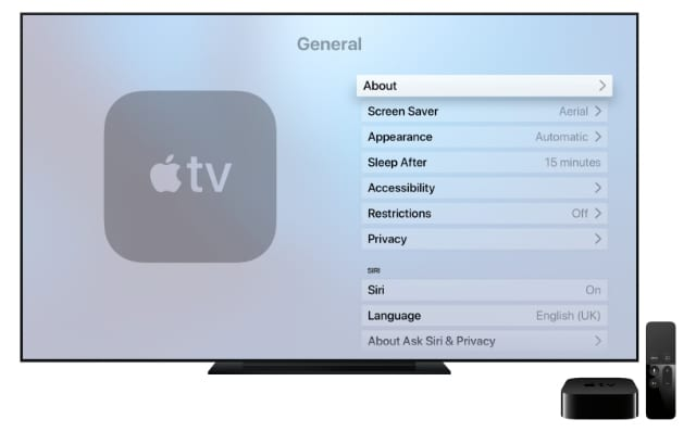 Apple TV settings that you can't transfer